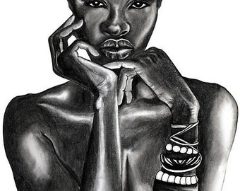 Ajuma - Large Art Print - The Beauty Collection