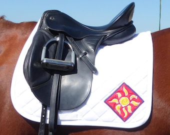 Be Bold! White Dressage Saddle Pad for English Saddles from The Daylight Collection DD-73