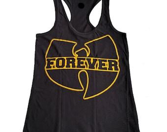 Wu Tang Forever woman's ring spun Racerback tank top