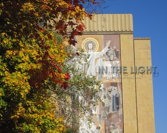 Notre Dame Hesburgh Library in the Fall - Fine Art Photography