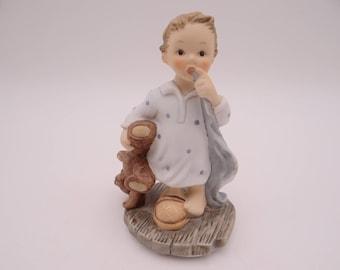 "Mint Vintage Goebel Hummel ""Tuck Me In"" Figurine - BH 205"