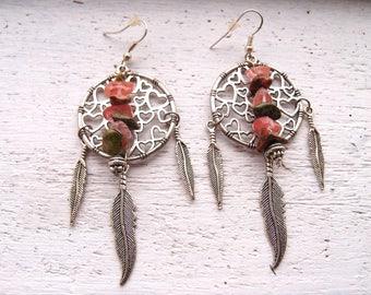 Stevie~Ladies Earrings/Gift For Her/Stevie Nicks Style/Gypsy Earrings/Southwestern Earrings/Hippy Earrings/Tribal Earrings/Feather Earrings
