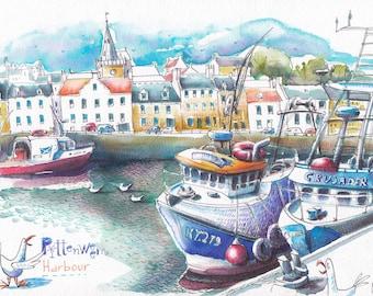 Fishing village  in Scotland.