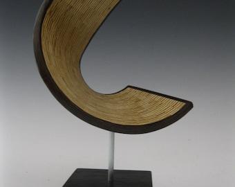 Modern Abstract wood art sculpture