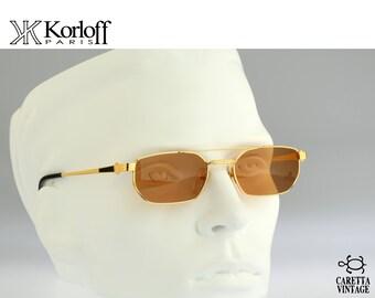 Korloff Paris K16 C 04, Vintage aviator Sunglasses, 90s rare and unique / NOS