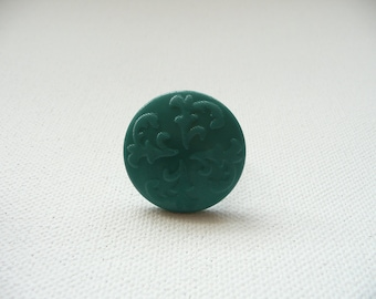 nr-Green Textured Button Adjustable Ring