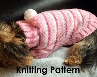 Striped Dog Sweater-PDF Knitting Pattern