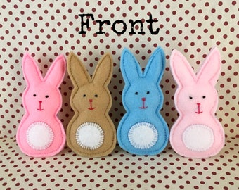 Felt Bunny cat toys, cat gifts, stocking stuffers, fun toys, kid toys