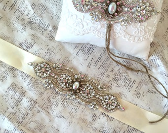 Ivory Wedding Sash, Rhinestone Wedding Sash, Wedding Sash Pearl, Wedding Sash Ivory, Bridal Sashes and Belts, Ivory Sash Belt, Pearl Sash