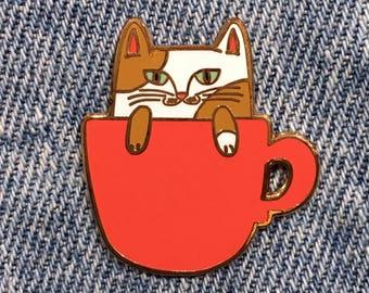 COFFEE CATS Catpuccino Enamel Pin