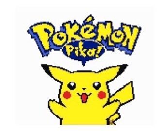 Pokemon pikachu large cross stitch graph pattern
