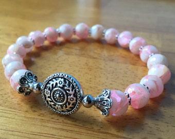 Shell Jewelry, Shell Bracelet, Chunky Bracelet, Beaded Bracelet, Stretch Bracelet, Ocean Bracelet, Ocean Jewelry, Mosaic Shell, Jewelry Gift