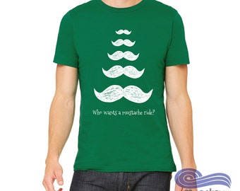 Mustache Holiday Sweater, Mustache Ride, Ugly Christmas Sweater, Funny Holiday Sweater, Funny Holiday shirt, Inappropriate Christmas Shirt