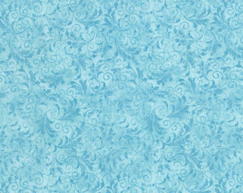 1/2 Yard Timeless Treasures Echo Tonal Filigree in Sky C5500