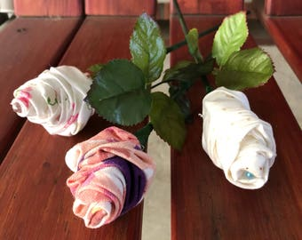 Unique Handmade Rolled Clothe Rose