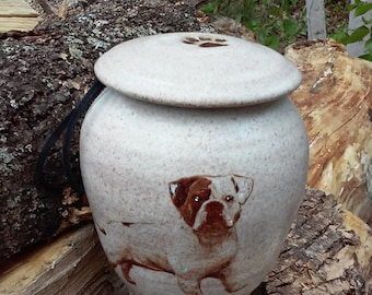 Bulldog Urn for Dog Up to 40 lbs