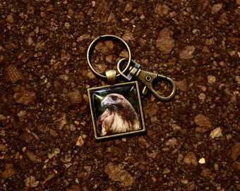 "Red Tailed Hawk ""Ladyhawk"" Key Fob"