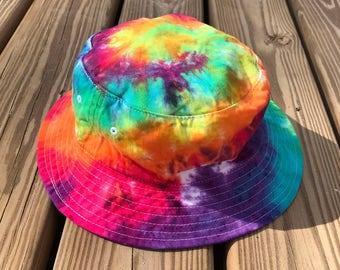 Tie Dye Bucket Hat - Handmade - Michigan Made - 100% Cotton - Festival Fashion - Hippie Hat