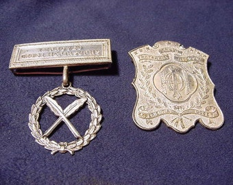 Rare Antique 1800's Fraternal Medal Improved Order Heptasophs New Orleans