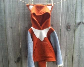 Fleece Fox Hoodie - Red Fox Costume