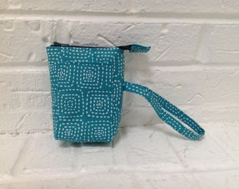 iTOVi Case / Water-Resistant iTOVi Bag / fabric zippered pouch for iTOVi / essential oils scanner pouch / small divided turquoise pouch