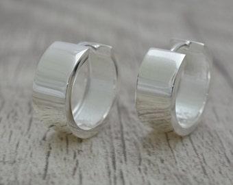 Klappcreolen High Gloss Silver 925