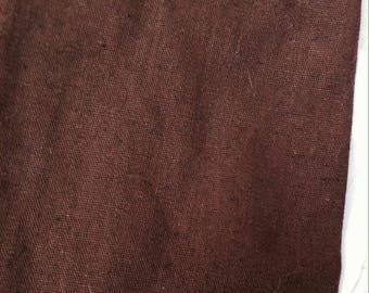 Chocolate brown linen fabric