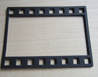 Photo Strip Frames-Film Strip-Stiffened Felt Black Film Strip Frame-Party Shapes-DIY Wedding Decorations-Scrapbook Frames