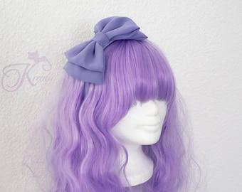 Lolita Hair Bow Chiffon (lilac)