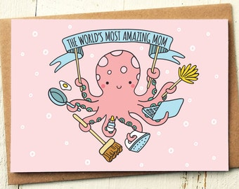 Mom Card - Mothers Day Card - Mom Birthday Card - Thank You Mom - Mother Card - Thank You Mum - Birthday Card Mum - Card For Mom