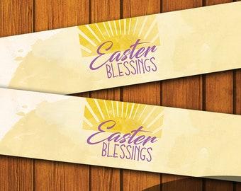 Mason Jar Printable Label / Easter Blessings / Mason Jar / Instant Download / Digital Download / Easter / Spring
