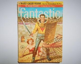 Fantastic Science Fiction Magazine Vintage October 1957 Volume 6 No. 9 Sci Fi Book