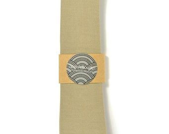Brown necktie - Wedding Mens Tie Skinny Necktie organic cotton- Laid-Back necktie
