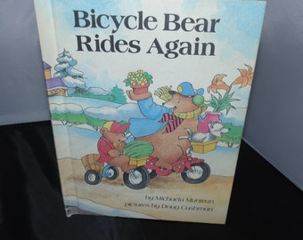 Vintage 1989 Bicycle Bear Rides Again Children's Book Hardcover Parents' Magazine Press