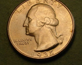 1935 Washington Quarter GEM BU Super Type Coin<> Insurance Included in SH , Coin you see is the Coin you get <> # ET5993