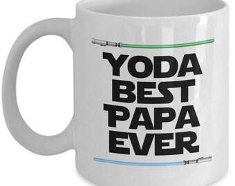 Yoda Best Papa Ever Star Wars Father's Day Dad Daddy Papa Nerd Gift