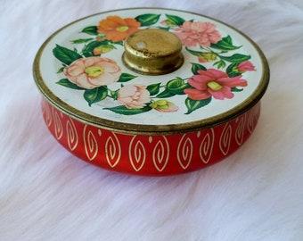 Vintage Tin, Daintee Brand, Floral Design