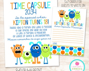 Made to Match - Time Capsule Set, Printable OR Printed/Shipped