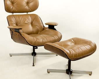 Plycraft Lounge Chair and Ottoman