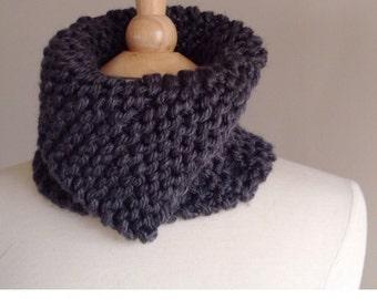 Chunky knit scarf pattern, knit neckwarmer pattern, chunky scarf pattern, easy knit scarf pattern, reversible scarf pattern