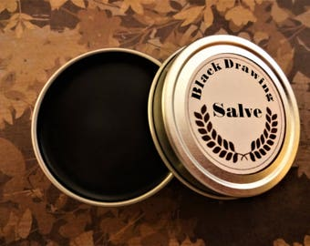 Black Drawing Salve 1 Oz.  Drawing Salve, Black Salve, Healing Salve, Herbal Salve, Charcoal Salve, Black Balm, Healing Balm, Herbal Balm