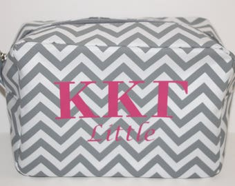Kappa Kappa Gamma Greek Sorority Cosmetic Bag Gift, Big little sister gift, Sorority Christmas Gift, Bid Day gifts, KKG gifts