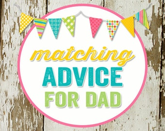 ADVICE CARD for dad-to-be to match any invitation for baby shower or bridal shower, digital, DIY printable file katiedid designs cards