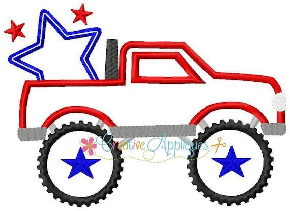 SAMPLE SALE, Monster Truck Lonestar - Girls 4th of July Shirt - Boys 4th of July Shirt - Kids Patriotic Shirt - Independence Day Shirt