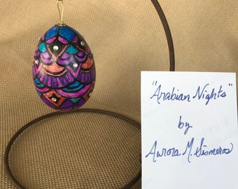 duck egg ornament