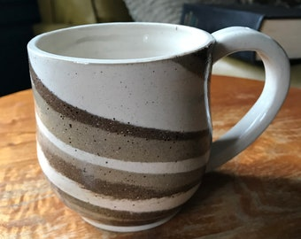 Mixed clay mug