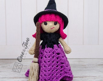 Willow the Witch Lovey / Security Blanket - PDF Crochet Pattern - Instant Download - Blankie Baby Blanket
