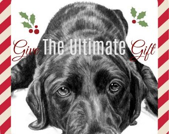 Pet Portrait Pet Memorial Pet Loss Gifts Personalized Dog for Dog Lover