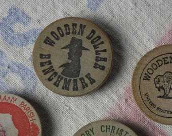 Wooden Nickel Magnets/RE:purposed vintage wooden coins