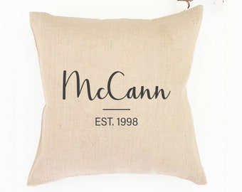 40th Wedding Anniversary Gift for Parents | Couple Pillow | Gift for Couple | Monogram Pillows | Couples 30th Anniversary Gift for Parents